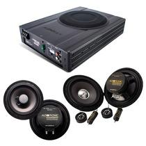 Kit Pro Audiophonic C/ Caixa Amplif. Aps 2.1 + Ks6.1 + Cs650