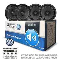 Kit Alto Falante Original Vw Tech Fox/voyage Clarion 50rms