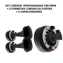 Kit 2 Driver Profissional 240w Com Corneta Longa Ou Curta