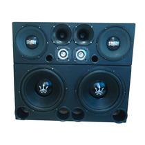 Caixa Trio Paredão10.000w +amplificador 4.000w+ Cd Brinde