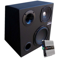 Caixa Mini Trio Sub + Woofer Mid + Tweeter + Modulo Taramps