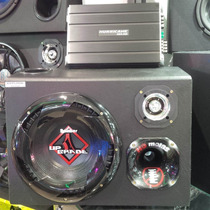 Caixa Som Trio Subwoofer Bomber Upgrade 350w Completa+modulo