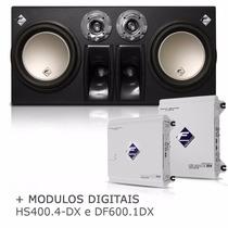 Caixa Cxp12-td2n 900w + Módulo Hs400.4 Dx + Módulo Df600.1dx