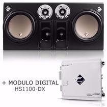 Caixa Trio Eletrico 2 Sub + Modulo Hs1100 Falcon Som Trio