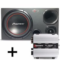 Caixa Trio Pioneer 300w + Driver Selenium + Modulo Taramps