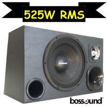 A Melhor Caixa Som Trio Woofer Bossound 525w Rms Cone Seco