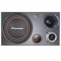 Caixa Trio 540w Rms Dutada Sub Woofer 12 Pioneer - Montada