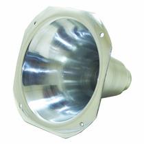 Corneta Cone Curto Alumínio Polido De Rosca C/ Boca Quadrada
