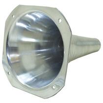 Corneta Cone Longo Alumínio Polido De Rosca C/ Boca Quadrada