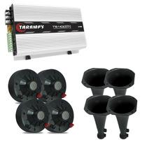 Kit P/corneteira 4 Driver + 4 Cone Longo +amplificador Ts400