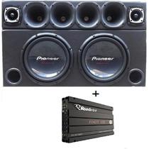 Caixa Trio 2 Pioneer W310 + Corneteira 3880 Watt + Power One