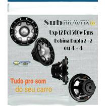 Sub Bravox Uxp 12 Pol 500w Rms Bobina Dupla 2+2 Ou 4+4