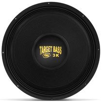 Alto Falante Sub Eros 18 Pol 1500w Rms3k Target Bass Cromado