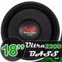 Alto Falante Woofer Ultravox Ultra Bass 18 2200w Rms 4 Ohms
