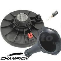 Kit Corneta + Driver Champion 100w Rms + Capacitor