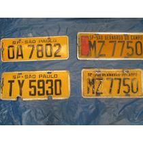 Automoveis-antigas Placas Aluminio Amarelas Varias Unidades