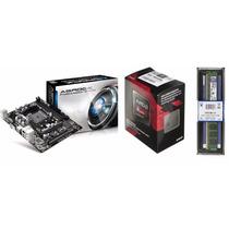 Kit Gamer Asrock Fm2a55m-vg3+ A6 7400k + Kingston 4gb 1600