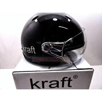 Capacete Aberto Coquinho Kraft Scooter Harley Drag Shadow