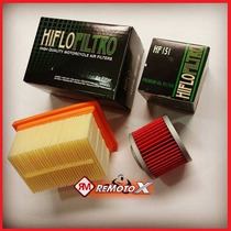 Kit Filtro De Óleo E Ar Hiflo Filtro Bmw G650gs 2012