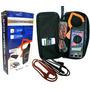 Alicate Amperímetro Com Multímetro Digital E Medidor Temp