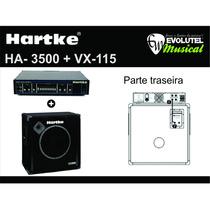 Kit Hartke Cabeçote Ha3500 + Caixa Acústica Vx115