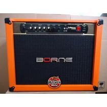 Amplificador Borne Vorax 12100 + Fonte P/ Pedais Cor Orange