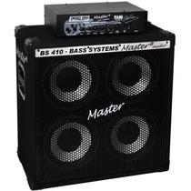 Kit Contra Baixo Cabeçote Cubo Sbk 400 Master Áudio 200w