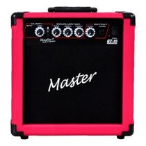 Frete Grátis - Master Audio Gt-15 Cubo Guitarra 15w Rosa