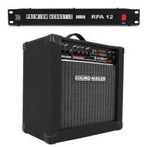 Caixa Amplificada Sound Maker Teclado + Filtro Linha
