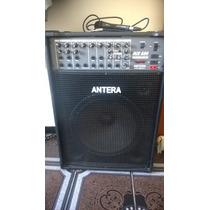 Caixa Antera Amplificada - Para 4 Micro-fones. Mod, Mix 600.