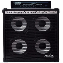 Cabecote Cubo Amp Set Baixo 200bs 4x10 200 Watts