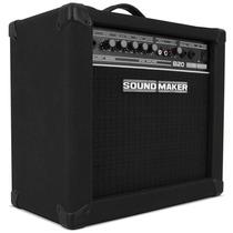 Caixa Amplificada Sound Maker Cube B20 P/ Contra Baixo Som