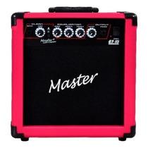 Ritmus : Master Audio Gt-15 Cubo Guitarra 15w Distorção Rosa