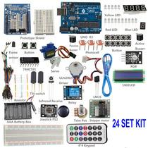 Iniciado Básica 24 Kit Para Arduino Uno Beginner R3 Mega 25
