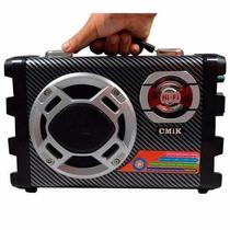 Micro System Caixa Som Amplicada Rca Mp3 Usb Karaoke Sd Wifi