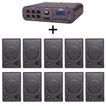 Kit Som Ambiente Amplificador Sa20 + 10 Caixas Ll Pb75