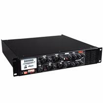 Pré Amp C/ Gongo E Equalizador 300w Power Mix 1200 70v Leacs