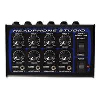 Amplificador De Headphones Power Click Mx 4x4 C/ Fonte