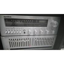 Toca Disco Gradiente Dd100q+receiver+equalizador+tape Deck