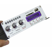 Amplificador Stereo 2ch 200 W Para Ipod Car Home Mp3 Fm