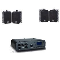 Kit Som Ambiente Amplificador Sa 10 + 2 Pares Caixa Sp 400