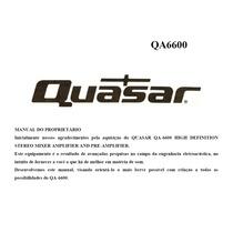 Manuais Quasar Linha Laboratory, Qa6600, Qa3300, Qt3300,