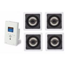 Kit Som Ambiente Boz Amplificador Parede + Loud Sq5-50 4pçs