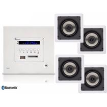 Kit Amplificador De Parede Loud Lac Lx Bt + 4 Caixas Sq5-50