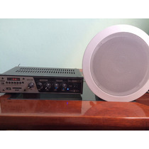 Kit Som Ambiente Frahm Slim1000 Usb Fm+4 Falantes P/ Embutir