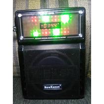 Caixa Som Amplificada E Radio Am Fm Sd Usb Com Gravador