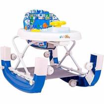 Andador Infantil 8 Rodas E Balanço Styll Baby Azul Inmetro