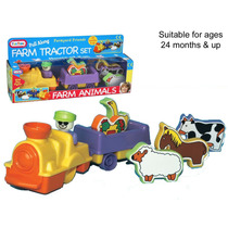 Puxe Ao Longo De Brinquedo - Trator Agrícola Set Figura & J