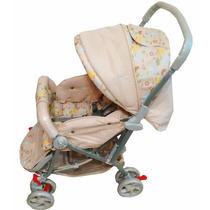 Carrinho De Bebê Tipo Berço 3 Posições Color Baby Bege