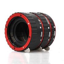 Tubo Extensor Macro Canon - Auto Foco - Rosca De Metal